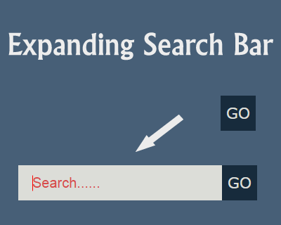 Expanding Search Bar with jQuery