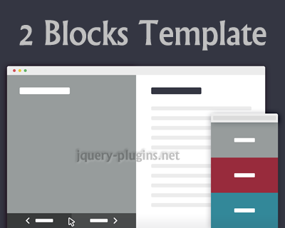 2 Blocks Template