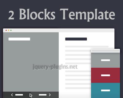 2 Blocks Template