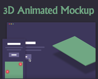 3D Animated Mockup