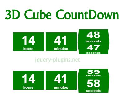 3D Cube CountDown Script