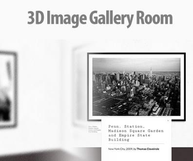 3D Image Gallery Room