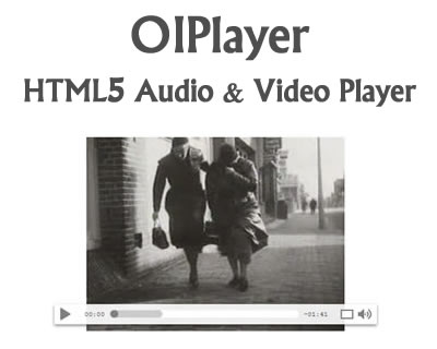 OIPlayer - HTML5 Audio and Video Player jQuery Plugin