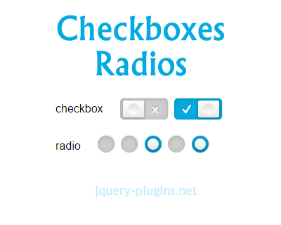 Accessible & Skeuomorphic Checkbox/Radio jQuery Plugin