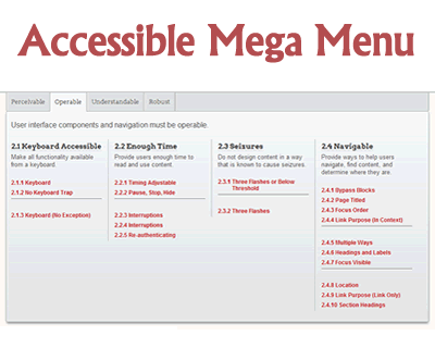 Accessible Mega Menu