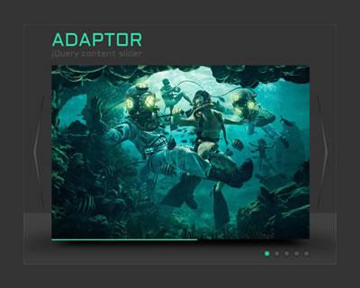 Adaptor – jQuery 3D Content Slider