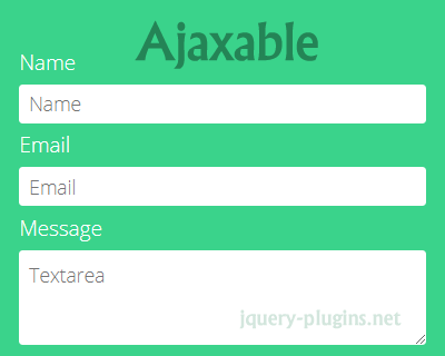 Ajaxable – JavaSript Library to Make Forms Ajaxable