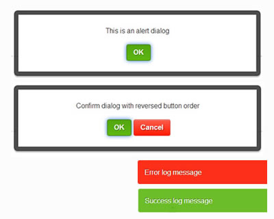 Alertify – JavaScript Alert/Notification System