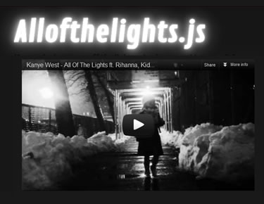 Allofthelights.js – jQuery Plugin to Turn Off the Light and Enjoy Your Video