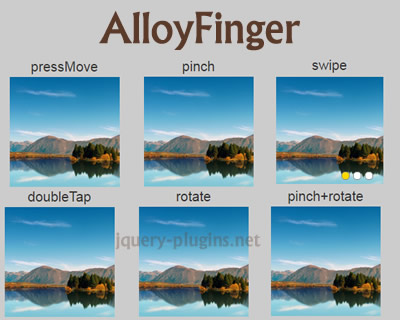 AlloyFinger – Tiny Multi-Touch Gestures Library