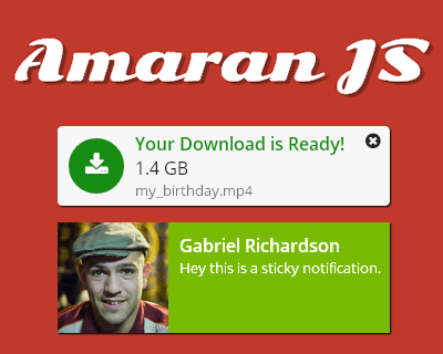 Amaran JS – Create Stylish Notifications