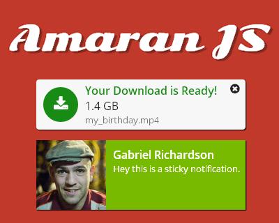 Amaran JS – Create Stylish Notifications