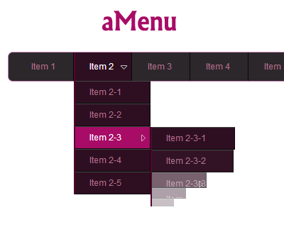 aMenu – Animated jQuery Menu