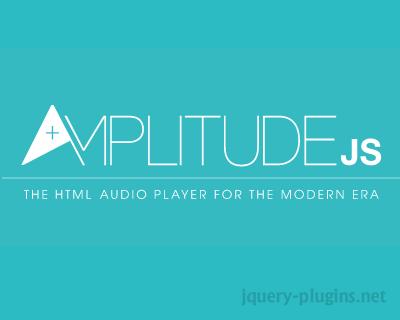 AmplitudeJS – HTML5 Audio Player For The Modern Era