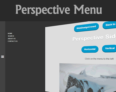 Animated CSS3 Perspective Menu with jQuery