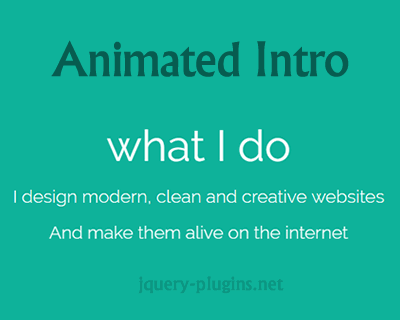 Animated Intro With jQuery