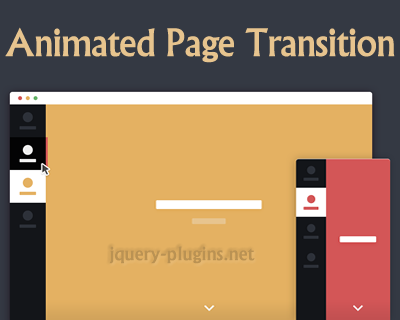 Animated Page Transition with CSS and Javascript