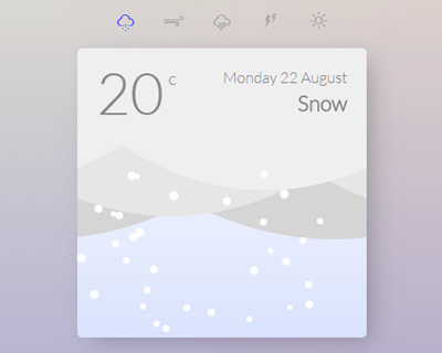 Animated Weather Cards with CSS and Javascript