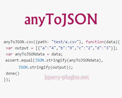 anyToJSON – Converts Any Data Repository to JSON