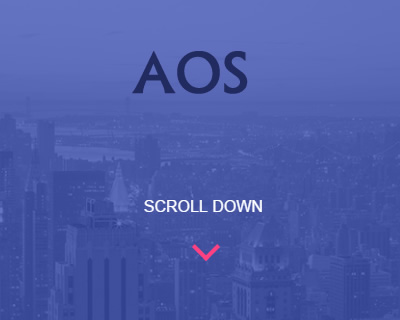 AOS – Animate On Scroll Library