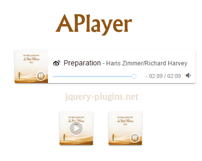 APlayer – HTML5 Music Player with Javascript