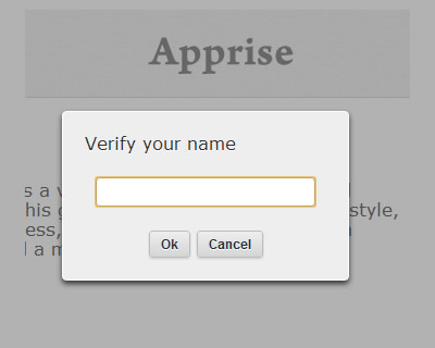Apprise – Attractive Alert Alternative for jQuery