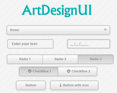 ArtDesignUI – jQuery Library to Style Web Elements
