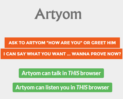 Artyom.js – Voice Recognition with Javascript