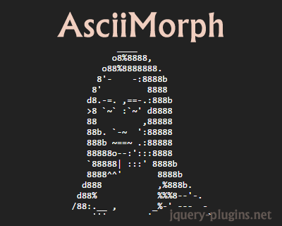 AsciiMorph – Library to Animate Between Two ASCII Images