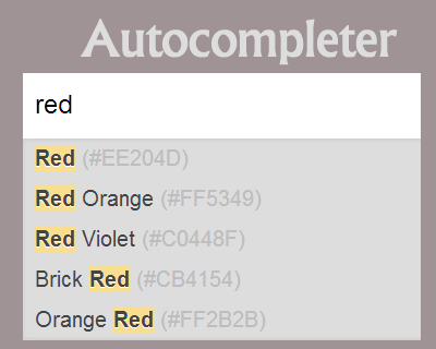 Autocompleter –  Customisable Autocomplete Plugin with Cache Support