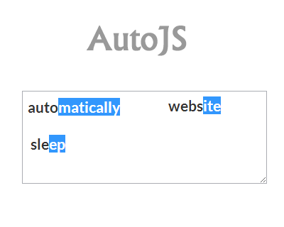 AutoJS – Auto Complete Plugin from Dictionary