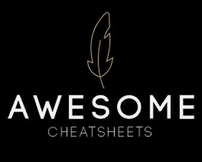 Awesome Cheatsheets for Programming Languages, Frameworks & Development Tools