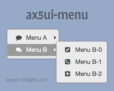 ax5ui-menu – jQuery Context Menu