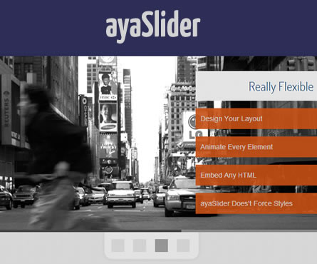 ayaSlider – Flexible jQuery Slider Plugin