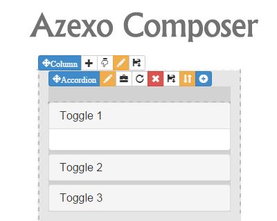Azexo Composer – jQuery Drag & Drop HTML Editor