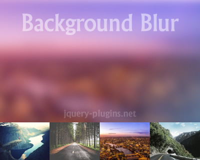 Background Blur – Ultra Light jQuery Plugin for Blurring Images