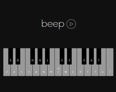 Beep.js – JavaScript Library for Building Browser-Based Synthesizers