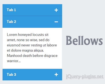 Bellows – Responsive and Mobile-First Accordion