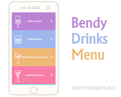 Bendy Drinks Menu – Drink/Restaurant Menu with Cool Animation