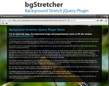 bgStretcher - Background Stretcher jQuery Plugin