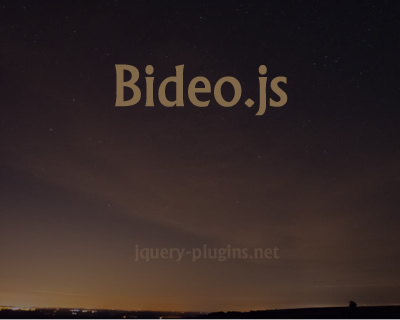 Bideo.js – Fullscreen HTML5 Background Video with Javascript
