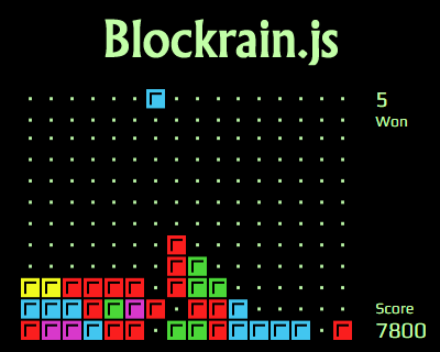 Blockrain.js – HTML5 Tetris Game for jQuery
