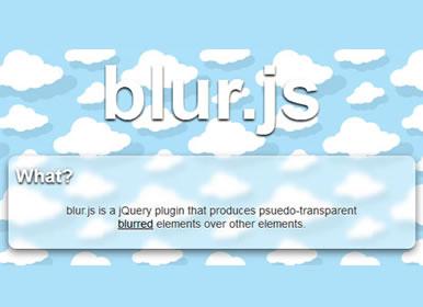 blur.js - jQuery Blur Plugin