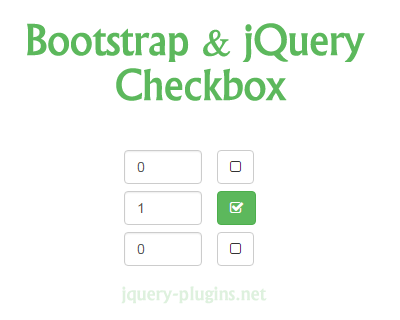 Bootstrap and jQuery Checkbox