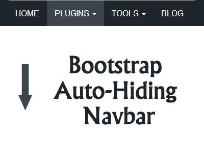 Bootstrap Auto-Hiding Navbar