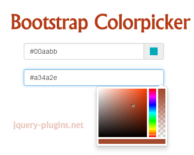 Bootstrap Colorpicker – Customizable Colorpicker for Bootstrap