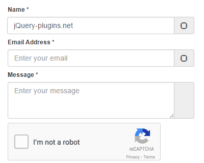 Bootstrap Contact Form with Google's reCaptcha