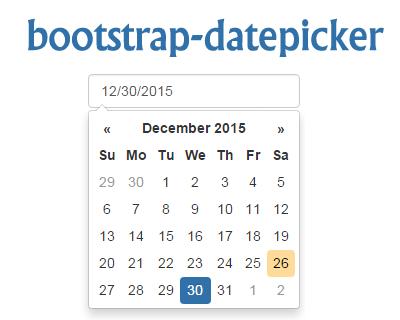 Bootstrap Datepicker