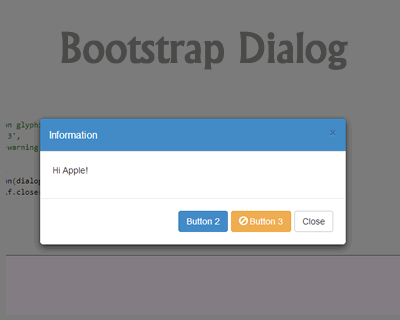 Bootstrap Dialog – Flexible Dialog for Bootstrap