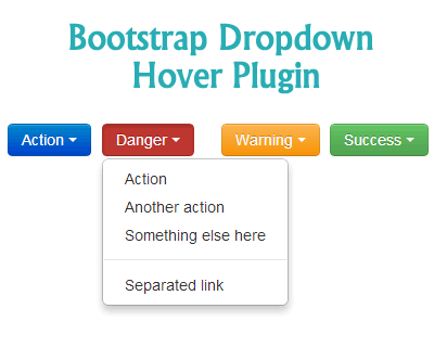 Bootstrap Dropdown on Hover Plugin